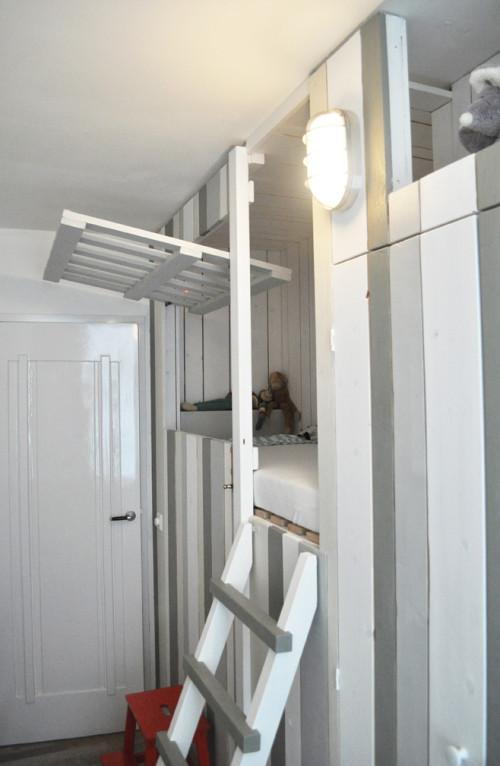 Slimme kinderkamernoknok interieurarchitectuur en meubelontwerp - Stapelbed kleine kamer ...